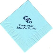 BABY RATTLE LOGO 50 Personalized printed LUNCHEON DINNER napkins