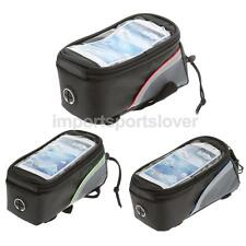 "Cycling Bike Bicycle Touch Screen Frame Pannier 4.8"" Mobile Phone Bag Pouch"
