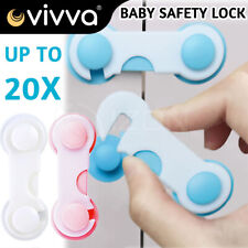Child Kids Baby Safety Lock For Door Drawers Cupboard Cabinet Adhesive NEW