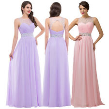 Sexy Long Formal Prom Evening Ball Gown Bridesmaid Wedding Cocktail Party Dress