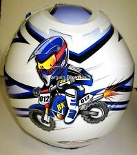 RXT YOUTH MOTOCROSS HELMET NEW! Yamaha blue KIDS Childrens Motorcross BMX MX