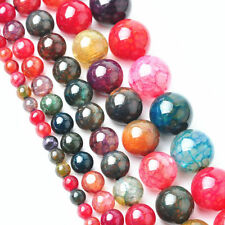Tourmaline Agate Gemstone Round Loose Spacer Bead 16'' Strand 4 6 8 10mm Finding