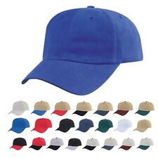 Heavy Brushed Low Crown Cotton 6 Panel Hat Hats Caps Cap Baseball Solid Two Tone