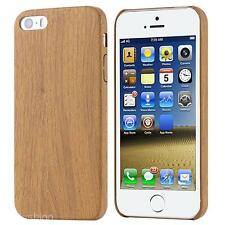 New Wooden Pattern Wood Grain  Soft PU Leather Case Cover Skin for iPhone 5/5s