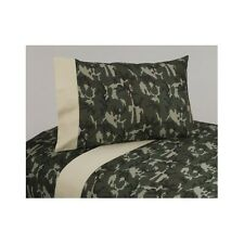 Bedroom Sheet Set Camouflage 3Pc Green 200 Thread Count Cotton Teens Twin Queen