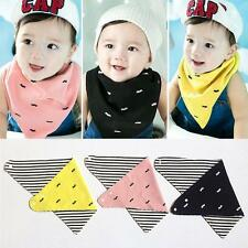 Baby Kid Triangle Bibs Saliva Towel Bandana Double Layer Dribble Head Scarf Bibs