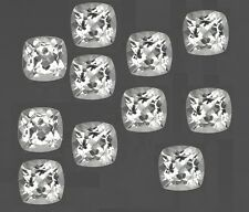 Natural White Topaz Cushion Cut Calibrated Size 4mm - 8mm Loose Gemstone