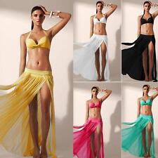 Wrap Around Skirt Women Skirt Sarong Waist Hippie Boho Gypsy Long Chiffon Dress.