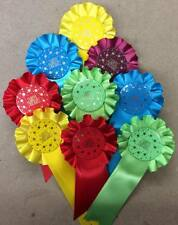 Rosette packs of 50 Well Done, Special, Happy Birthday Or Personalised