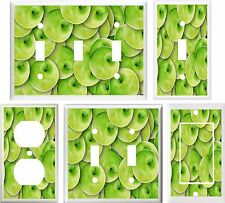 GREEN APPLES KITCHEN DECOR LIGHT SWITCH COVER PLATE OR OUTLET V818
