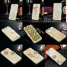 Slim Magnetic Flip Leather Bling Case Diamond Cover Skin For iPhone 4 5s 6s Plus