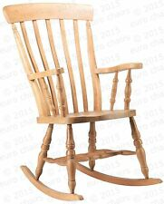 WOODEN ROCKING CHAIR | PAINTED TRADITIONAL BEECH ROCKING CHAIR | MADE IN EUROPE
