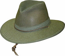 New Henschel Men's Polycotton Packable Mesh Breezer Safari Hat