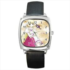 Chobits Chii Round & Square Leather Strap Watch - Anime Manga