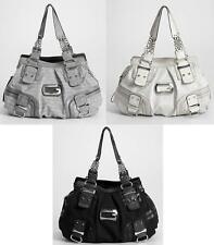 ..GUESS..INTRODUCES INCREDIBLE JILLY COLLECTION TOTE BAG-GRAY/COAL/STONE