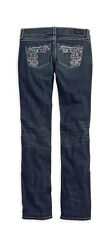 96277-15VW - Harley-Davidson® Womens Embellished Lowrise Skinny Bootcut Jeans