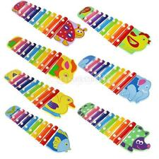 Kids Play Learn Wooden Hand Knock Piano Xylophone Educational Hammer Toy Gift