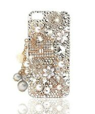 FOR APPLE IPHONE 4 5 6 LUXURY 3D BLING CRYSTAL CASE DIAMOND COCO BAG AND FLOWER