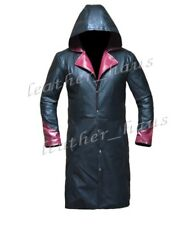Genuine Leather Dante Fashionable DMC 5 Devil May Cry Trench Coat w/ Hoody #534