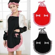Cute Lovely Hot Kitchen Ladies And Fashion Pockets Bow Apron Halter Women With