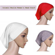 New Islamic Muslim Head Scarf Cotton Underscarf Hijab Cover Head Wrap Bonnet 1Pc