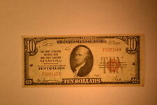 Stamford, CT - $10 1929 Ty. 1 The First-Stamford NB & TC.  Ch. # 4