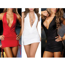 Deep V Close-Fitting Nightclub Sexy Pole Dance Dress Low-cut Dress