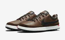 Mens NIKE LUNAR WAVERLY Spikeless GOLF Shoes Brown White Pink SIZE 11