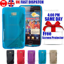 GRIP S-LINE SILICONE GEL CASE & FREE SCREEN PROTECTOR FITS GALAXY S2 I9100