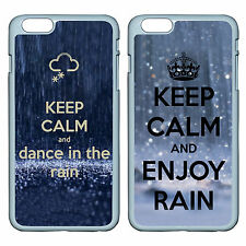 DIY KEEP CALM AND ENJOY RAIN For Apple iPhone iPod & Samsung Galaxy Case Cover