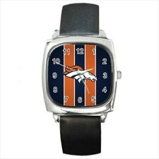 Denver Broncos Round & Square Leather Strap Watch - Football NFL