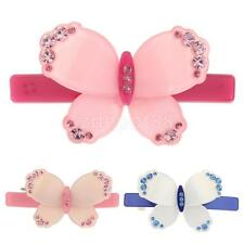 Lady Sweet Crystal Butterfly Hairclip Hair Barrette Headwear Accessories Gift