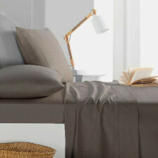 1000TC Egyptian Cotton ROUND BED SHEET SET Sateen Solid Dark Taupe