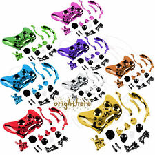 Chrome Plated Full Housing Case Shell Button Kit Fo Xbox 360 Wireless Controller