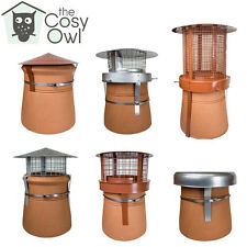 ChimFit Chimney Cowls For Chimney Pots And Woodburning, Multifuel, Solid Fuel