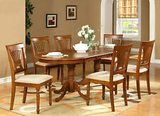 PLAI7-SBR 7 Piece Dining Room Set for 6-dining room table with 6 dining room c