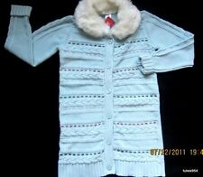 Gymboree Winter Snowflake Sweater Duster Blue Red Pink Faux Fur Collar 9 12 NWT
