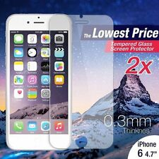 """Hot 2 X Tempered Glass Screen Film Protector for Apple iPhone 6 6S 4.7"""""""