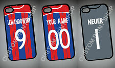 BAYERN MUNICH themed IPHONE 6 5 4 plus IPOD rear COVER CASE personalised kit