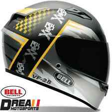 BELL QUALIFIER AIRTRIX GLOSSY BLACK WHITE FULL FACE MOTORCYCLE HELMET DOT XS-XXL