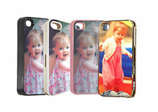 Custom Personalised Photo iphone 4/4s Hard Case with your Photo Image & Text
