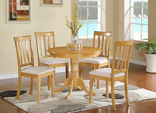 ANTI5-OAK 5 Piece Kitchen Nook Dining Set-small kitchen table and 4 chairs
