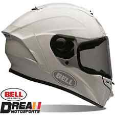 BELL STAR GLOSSY WHITE SOLID FULL FACE MOTORCYCLE HELMET DOT SNELL XS - XXL