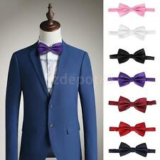 Fashion Polyester Colored Concealed Tuxedo Business Men Bow Tie Wedding Necktie