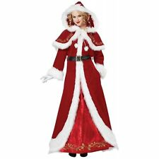 Deluxe Mrs. Claus Adult Costume Dress Red Green Christmas Santa Women LG-XXL