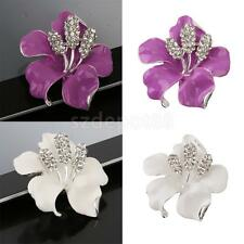 Fashion Crystal Rhinestone Flower Bouquet Collar Brooch Pin Wedding Bridal