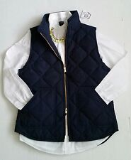 NWT J.Crew Factory Excursion Quilted Novelty Puffer Vest Navy Blue Size XXL