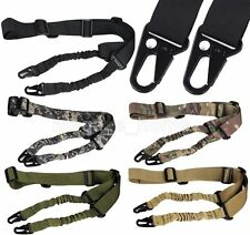 QD 2 Two Point Tactical Sling Rifle Gun Strap Adjustable Bungee Multi Mission
