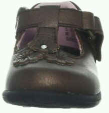 Stride Rite SRT Abigail T Strap Brown/Bronze 7.5M W Pearlized~Metallic~