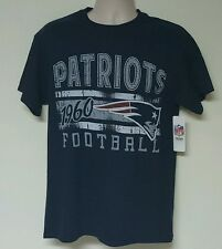 New England Patriots NFL Men's Navy Blue Team Logo Short Sleeve T-Shirts: M